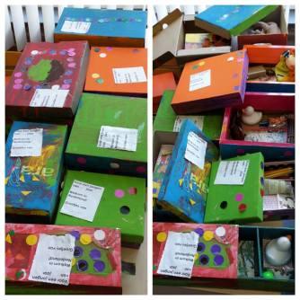 De vluchtelingen zijn ook onderwerp van gesprek bij ons in de groep. De kinderen hebben een fantastisch idee: Cadeaus maken!